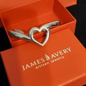 James avery  retired Abounding heart cuff bracelet